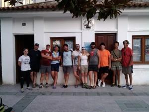 Leti, Ibon, Andrés, Alberto, Anxo, Berto, lara, Prado, Xoel, Silva e Nacho